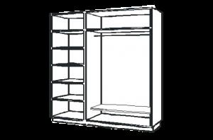 комплект для дверей шкафа купе