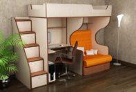 Детская кровать для девочки Валенсия 1